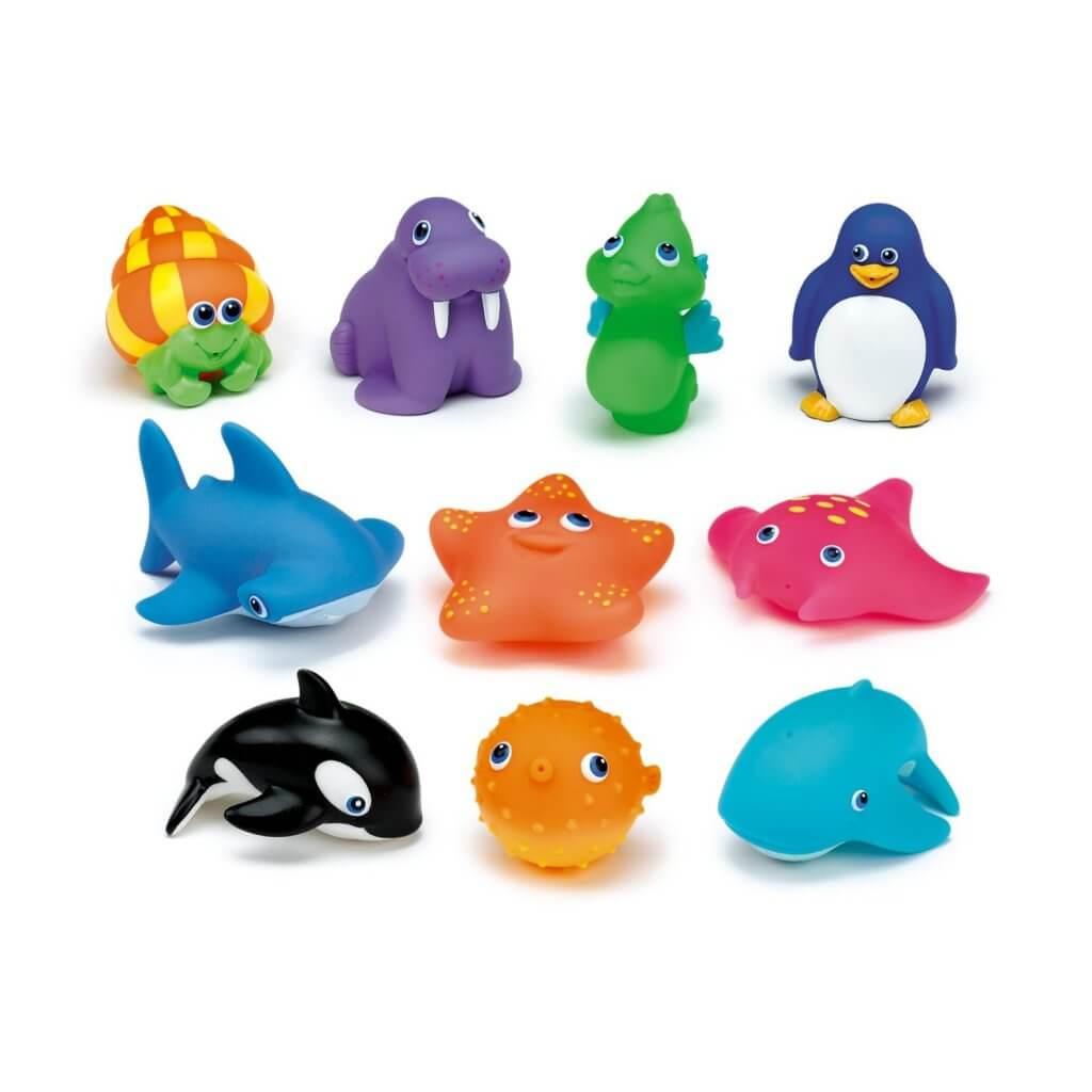 Zabawki do kąpieli w kształcie żyjątek morskich